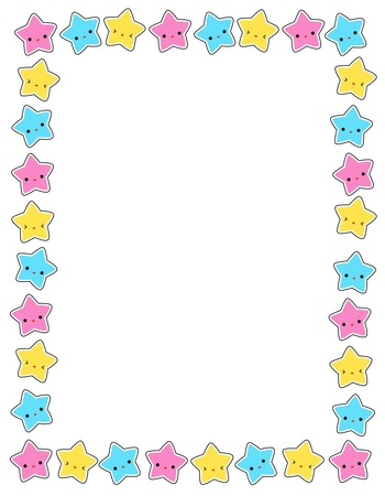Cute colorful stars border frame for greeting cards party invitation backgrounds etc also simple stock photos and images rf rh