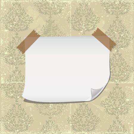 255cm x 384cm tessuto non tessuto. Vettoriale Carta Per Striscioni Sul Motivo Floreale Senza Soluzione Di Continuita Con Nastro Adesivo Trasparente Image 15887172