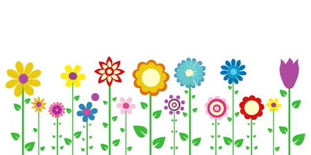 Cartoon Flowers Cliparts Stock Vector And Royalty Free Cartoon Flowers Illustrations