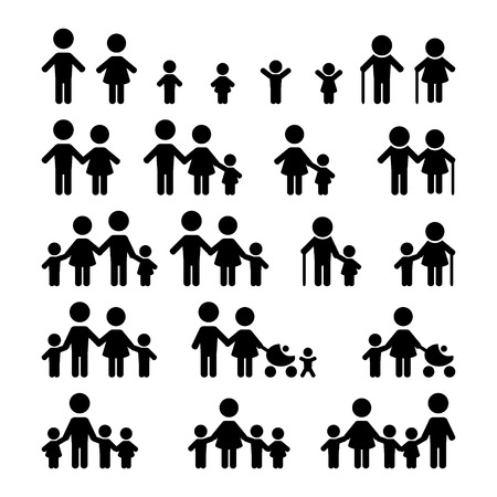 family group icons: Family icons set