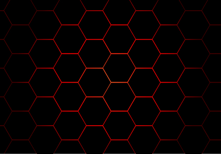 abstract black hexagon red