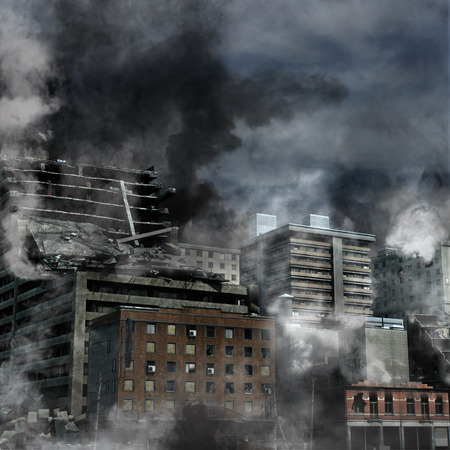 war: Urban Destruction Stock Photo