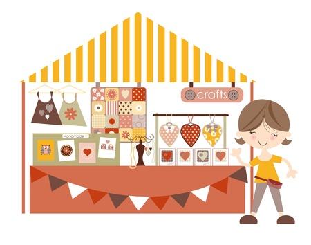 Crafts-Craft market Craft Fair Pastel Colourway Stock Vector - 16442085