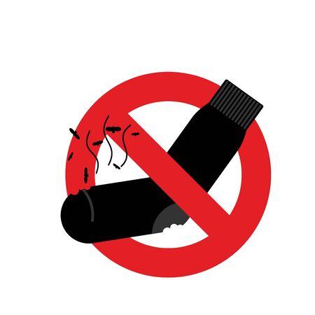smelly socks: Ban dirty smelly socks. Mark is prohibited. Vector illustration Illustration