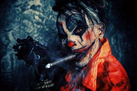 scary clown stock photos