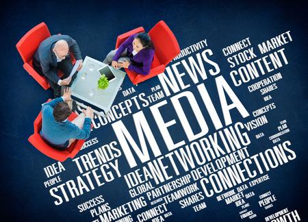 media: Media Social Media Network Technology Online Concept