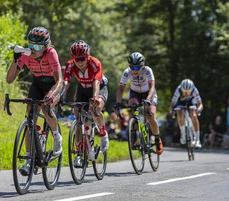 Bosdarros France July 19 2019 The Belgian Female Cyclist