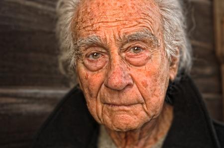old man portrait: Very nice emotional portrait of a elderly man