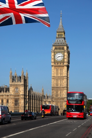 Londres Autobus Big Ben Con El Rojo De Dos Pisos En Londres Reino Unido