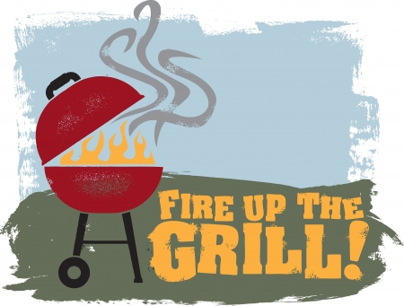 Backyard BBQ Grill Party Stock Vector - 14760605