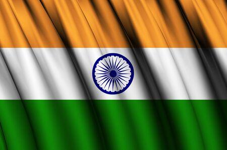 india waving flag illustration
