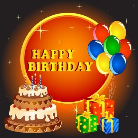 Birthday Greeting Stock Vector - 16015342