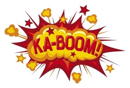 explosion cartoon: cartoon - ka-boom comic book element