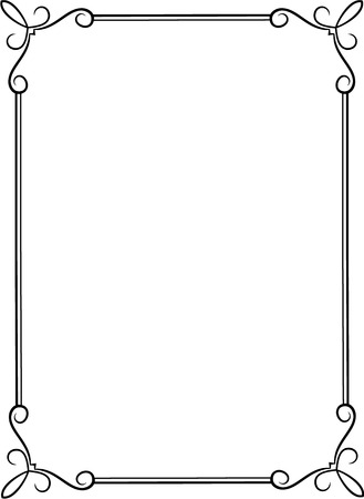 Simple black frame with decorative corners illustration also border stock photos and images rf rh