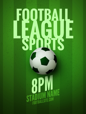 Vector Football Poster Or Flyer Template. Soccer Design Sports ...
