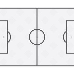 Football Pitch Diagram To Print 99 Civic Si Wiring Flat Soccer Field Line Template Grass Stadium On White Background Stock Vector