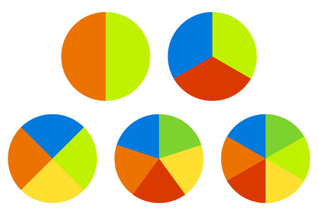 Set pie charts graphs in segments also segmented circles rh rf