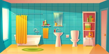 Bathroom Cartoon Stock Photos And Images 123RF