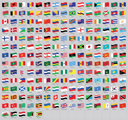all national waving flags