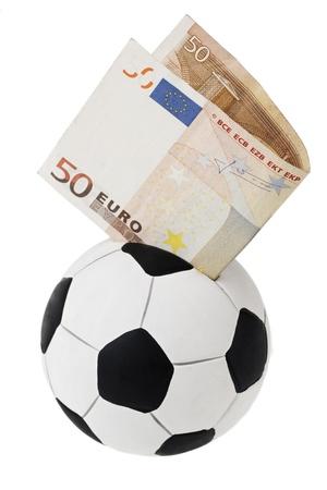 L Argent Dans Le Football : argent, football, Cinquante, Euros, Aller, Boîte, L'argent, Football., Isolé, Blanc, Banque, D'Images, Photos, Libres, Droits., Image, 15717617.