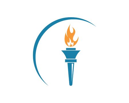 torch icon illustration vector