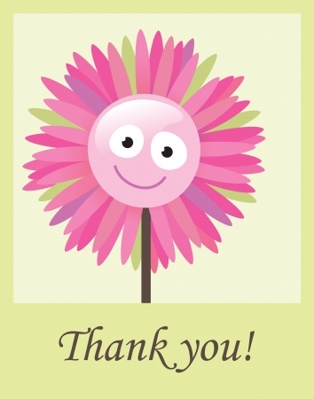 Flower thank you card Stock Vector - 18987250