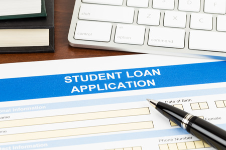 Student Loan Application Form With Pen Stock Photo, Picture And ...