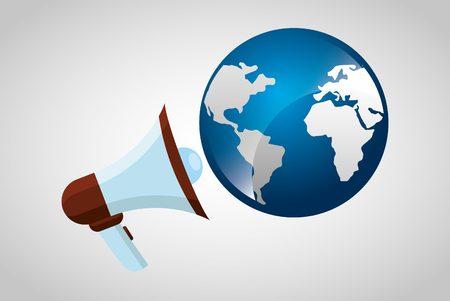 world news symbols icons: earth planet design