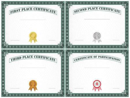 Blank Certificate Of Education Template Royalty Free Cliparts ...