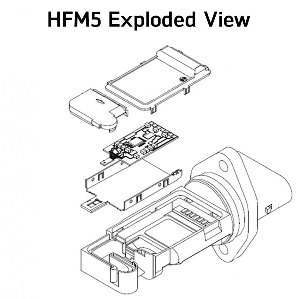 hight resolution of hfm5 sensor housing and measuring tube are designed to accommodate engine measuring volumes from 370 to