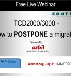 free live webinar tcd2000 3000 how to postpone a migration sponsored by azbil north america inc [ 3300 x 2550 Pixel ]