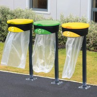 Glasdon Orbit Can & Plastic Recycling Bag Holder