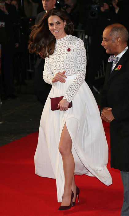 Kate Middleton wows in white gown at London movie premiere