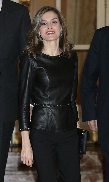 Queen Letizia Of Spain Loves Leather See The Coolest