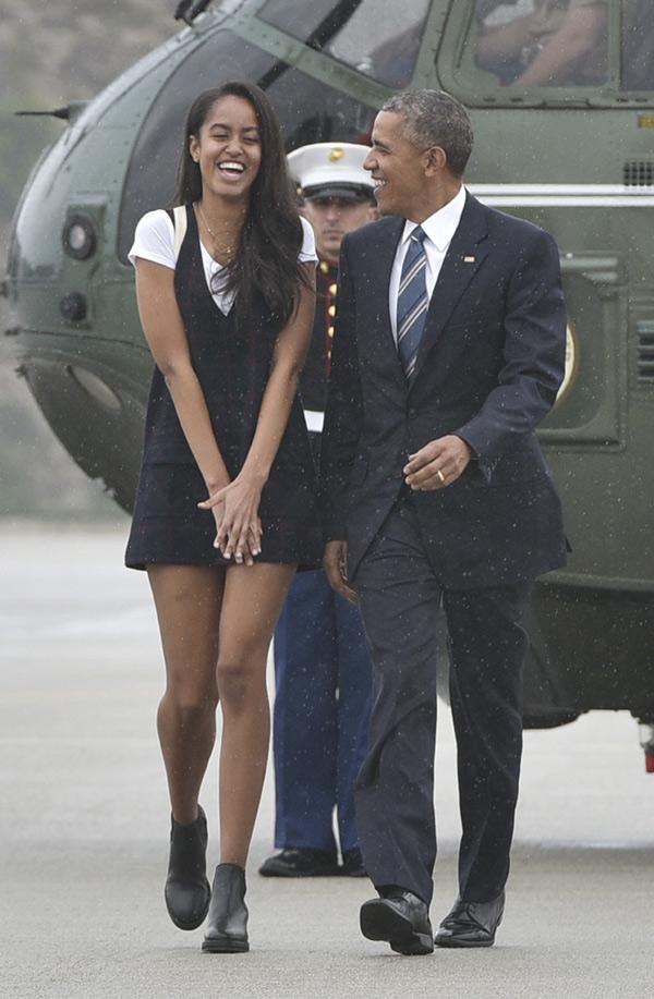 Barack Obama y su hija Malia comparten tiempo de calidad de padre e hija