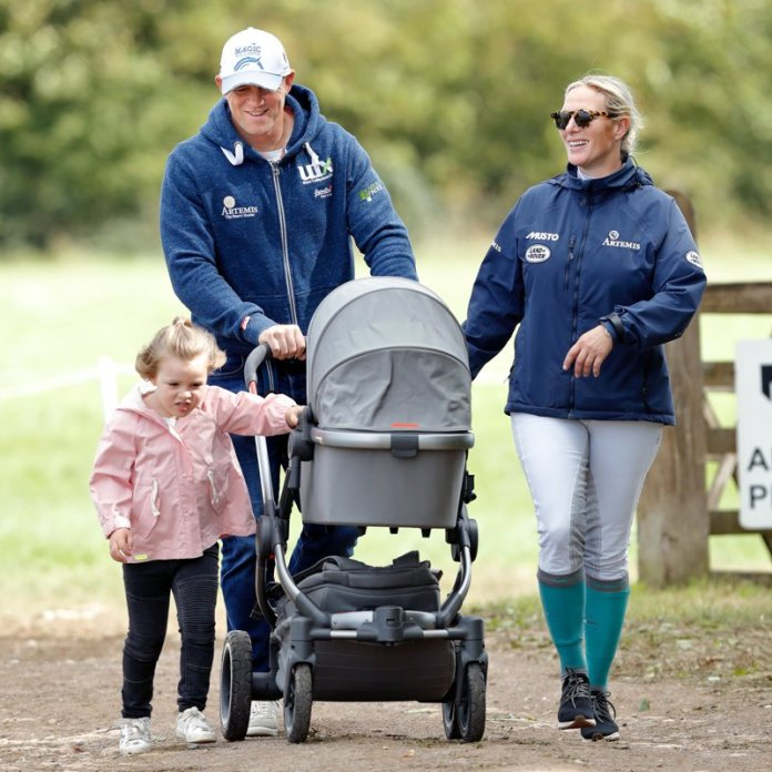 The dad of three (pictured with Zara and their daughters) recently said it's 'nice to have a boy around to keep me company'