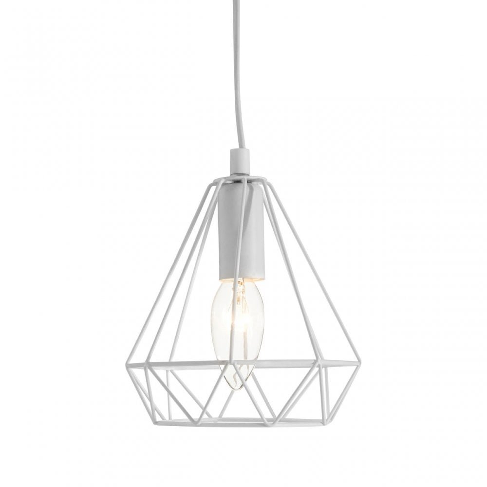 Premier Lighting Beli White Metal Wire Pendant Light