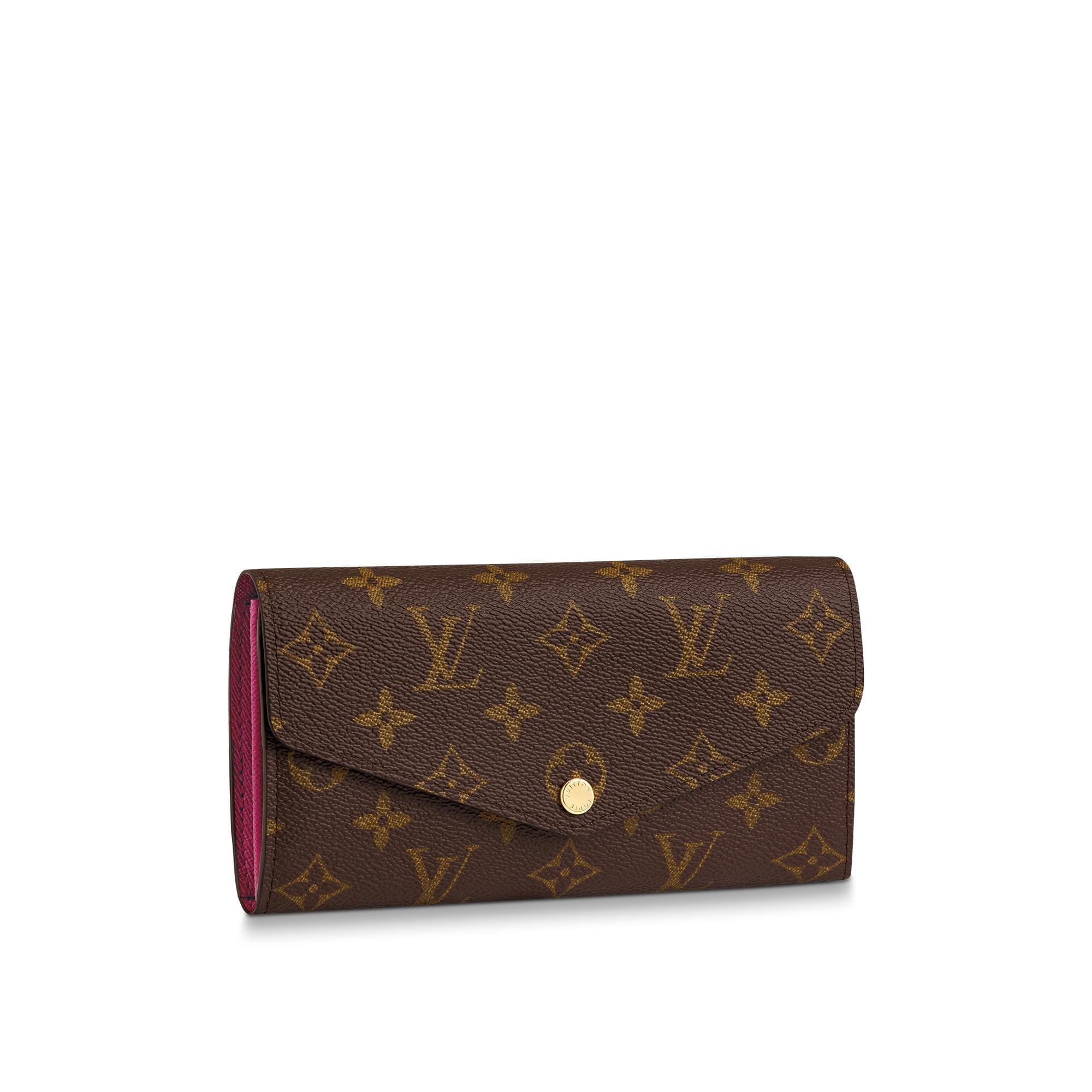 Designer Wallet in Leather  Canvas Sarah  LOUIS VUITTON