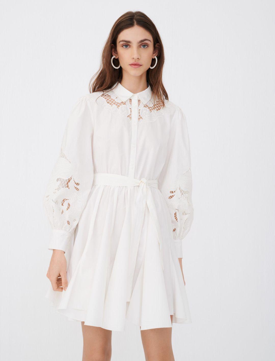 Maje Clothing Review, MAJE WHITE DRESS