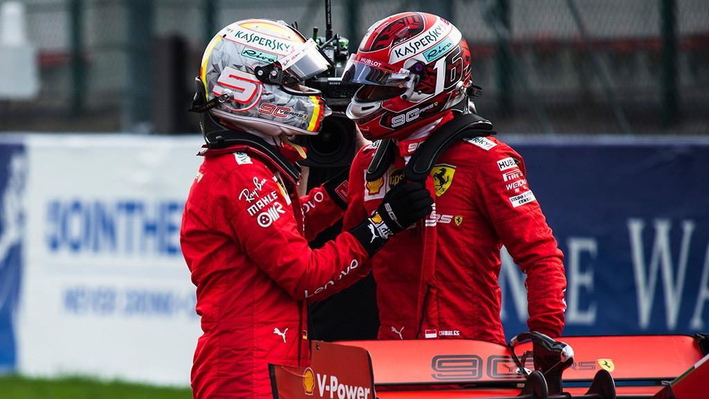 Charles Leclerc and Sebastian Vettel