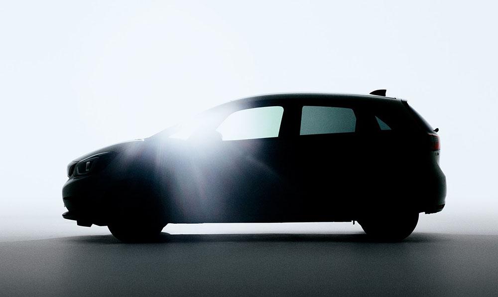 Honda teases image of next generation Jazz
