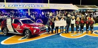 "Halftime at the 2019 Mitsubishi Motors Las Vegas Bowl: Mitsubishi Motors and Ally Financial present a 2020 Mitsubishi Eclipse Cross ""Community Utility Vehicle"""
