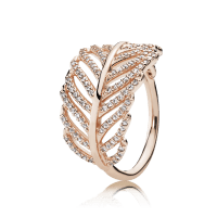 Light As A Feather Ring, PANDORA Rose & Clear CZ ...