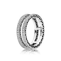 Double Hearts of PANDORA Ring, Clear CZ | PANDORA Jewelry US
