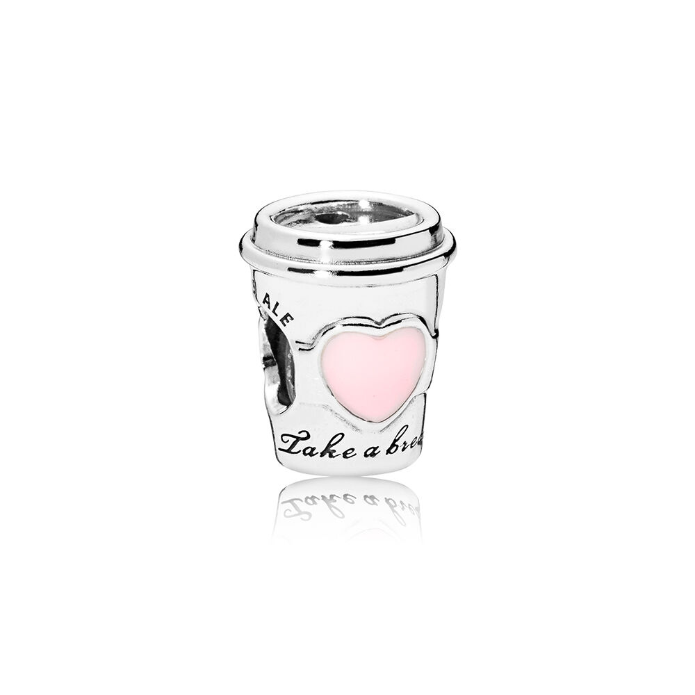 Drink To Go Charm Pink Enamel PANDORA Jewelry US