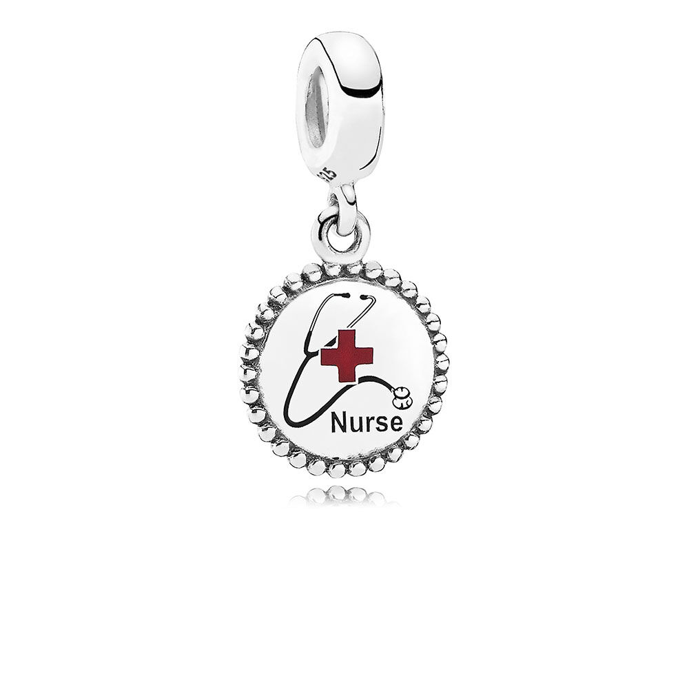 Nurse Dangle Charm Mixed Enamel PANDORA Jewelry US