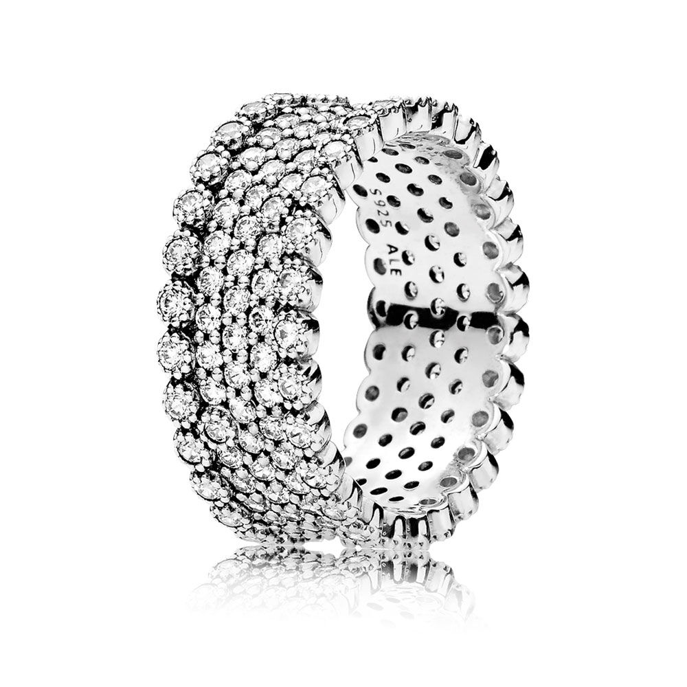 Lavish Sparkle Ring Clear CZ PANDORA Jewelry US