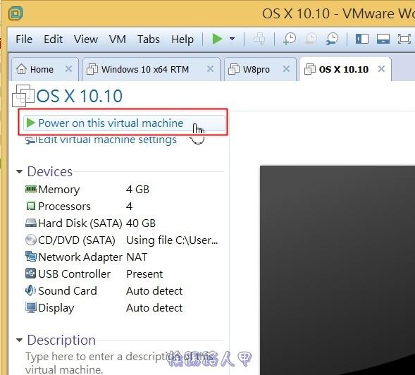 用VMware Workstation 11虛擬機器在 Windows 上執行 Mac OS osvm-12