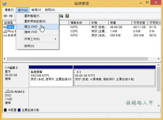 Windows 8/8.1使用VHD建立Windows 10的多重開機系統 w810-03