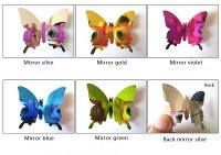 3D PVC Butterfly Mirrored Design Wall Art Stickers Kid ...
